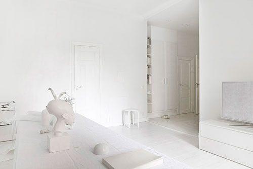 Witte woonkamer interieur