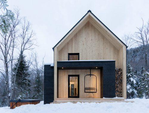 Wonen in een houten chalet