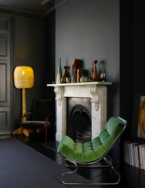Woning met zwart interieur van Graham