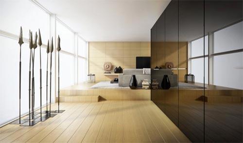 Woonkamer houten vloer