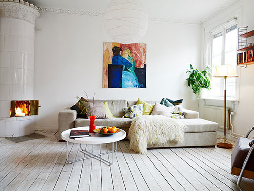 woonkamer ideeën van appartement gothenburg | interieur inrichting, Deco ideeën