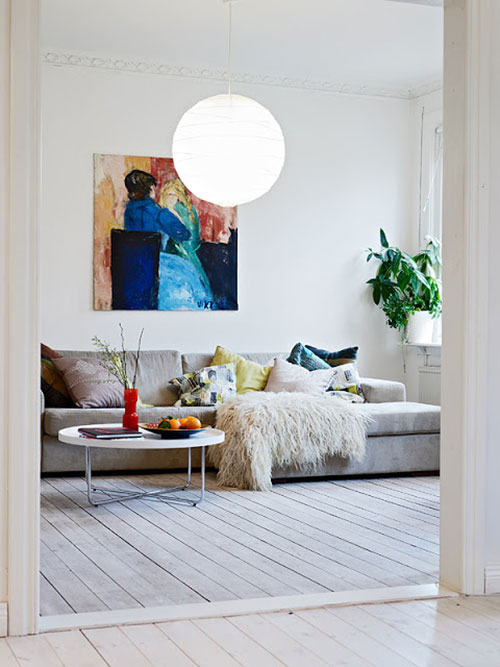 Woonkamer idee n van appartement gothenburg interieur for Interieur inrichting ideeen