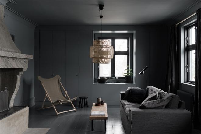 woonkamer ideeën donkere woonkamer