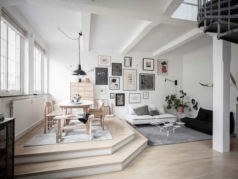 woonkamer ideeën eethoek naast zithoek