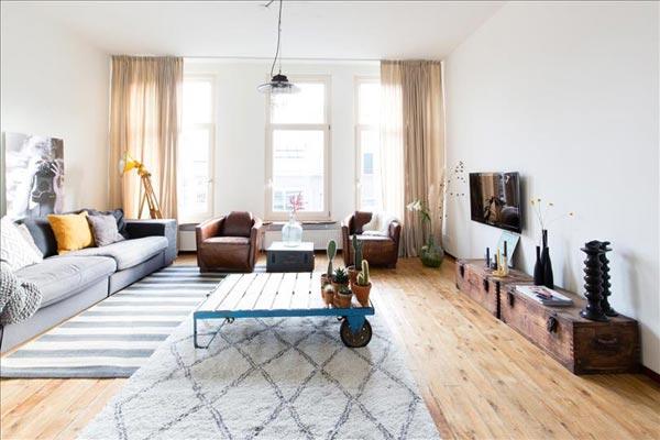 woonkamer ideeën houten kisten tv meubel