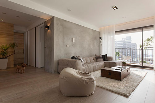 Woonkamer ideeën met beton