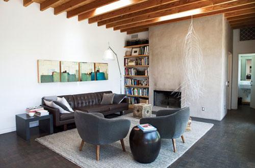 Ideeen Muur Woonkamer : Woonkamer ideeën met beton interieur inrichting