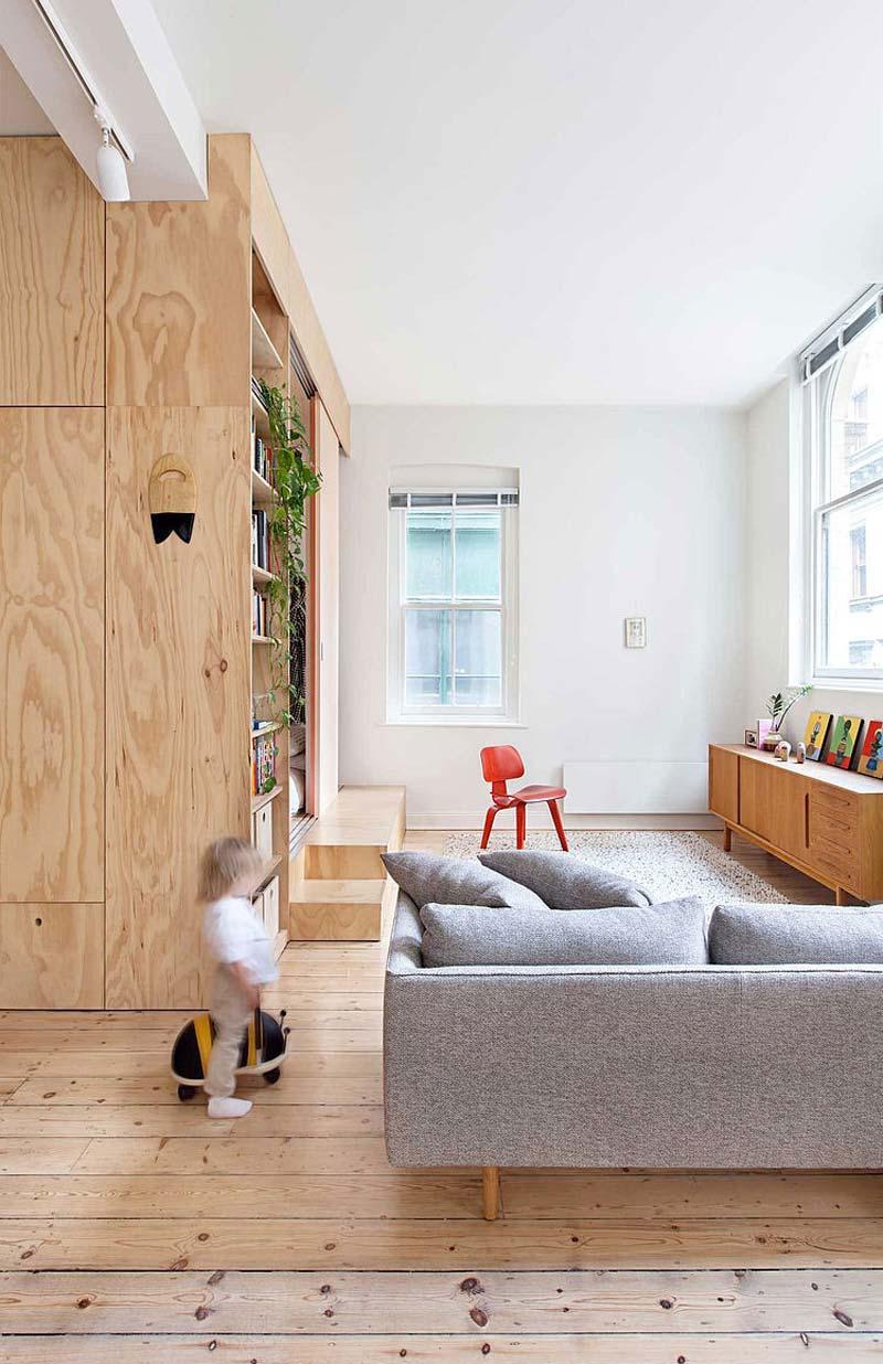 woonkamer ideeën multiplex wand slaapkamer