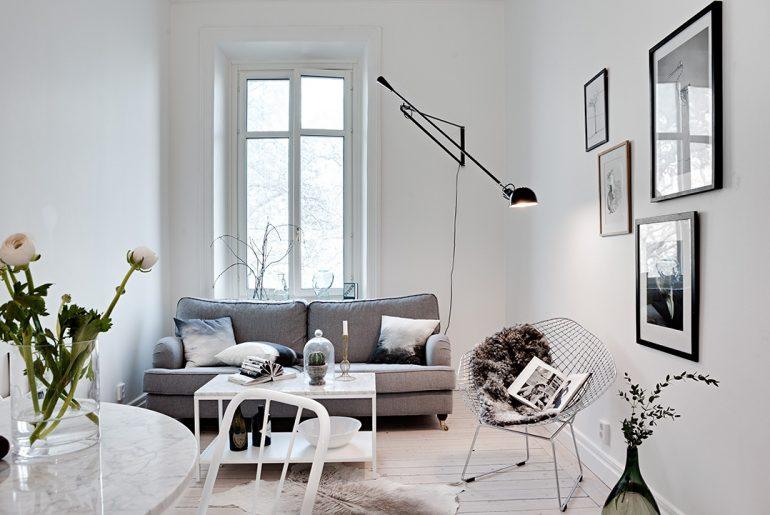 woonkamer ideeën muurdecoratie witte muren