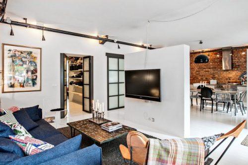 woonkamer ideeën scheidingswand keuken