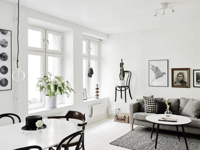 woonkamer ideeën stoel aan muur hangen