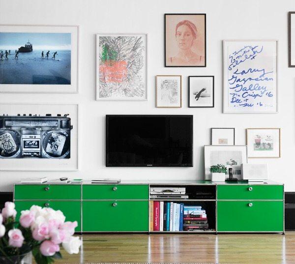 woonkamer ideeën tv collage lijsten
