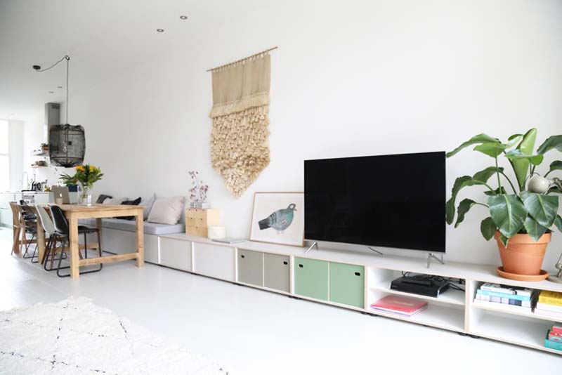 woonkamer ideeën tv meubel bank combinatie