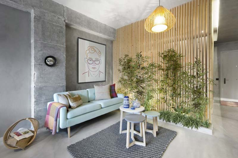 woonkamer ideeën vaste plantenbak