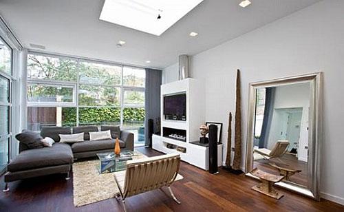 Woonkamer Inrichten Gordijnen : Living Room with Skylight