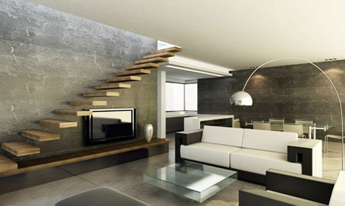 Open Keuken Dichtmaken : Living Room Designs with Stairs
