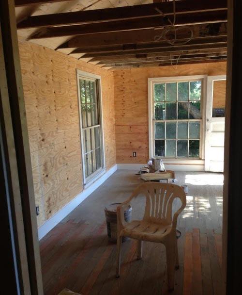 Woonkamer renovatie in oude schuur : Interieur inrichting