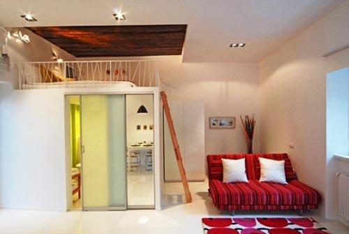 Woonkamer En Keuken Ineen : Woonkamer en slaapkamer in één ...