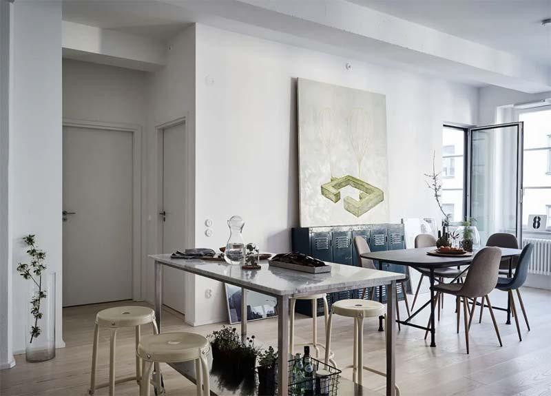 zacht industrieel interieur meubels