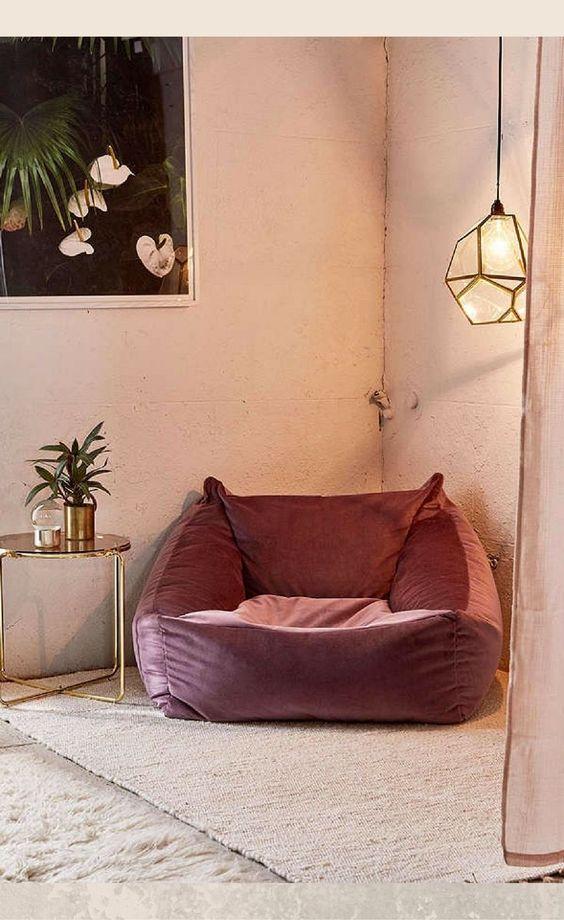 zithoekje fluwelen lounge