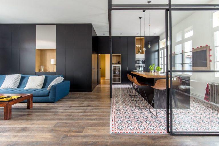 Zo richt je een gesloten transparante keuken in interieur
