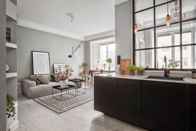 Een kleine woonkamer met open keuken? Kijk hier voor inspiratie ...