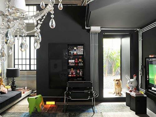Zwart interieur