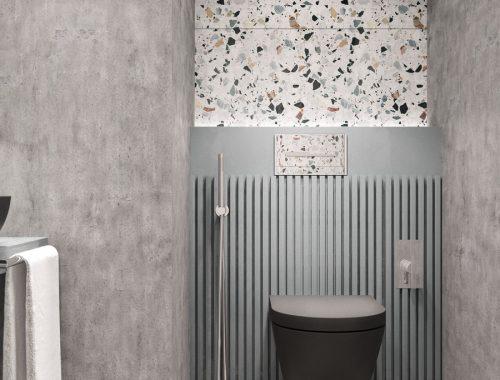Toilet interieur inrichting