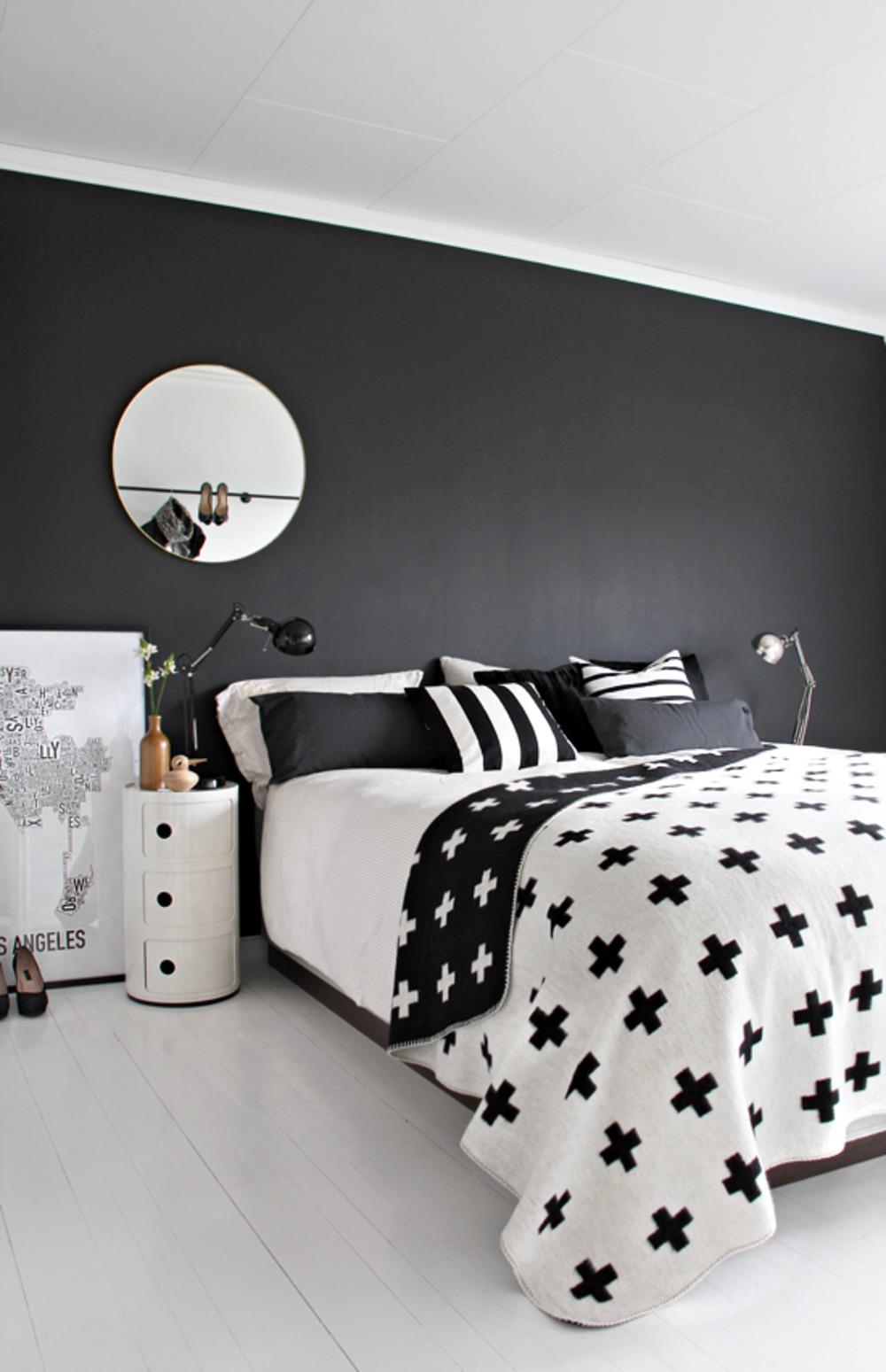 zwart-wit-slaapkamer