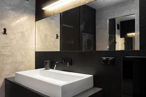 Design Badkamer Matten : Zwarte witte designbadkamer uit polen interieur inrichting