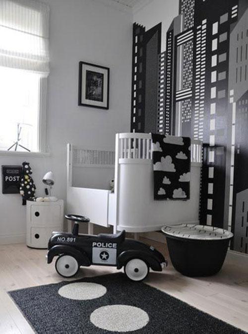 Zwart witte kinderkamers interieur inrichting - Jarige jongenskamer ...