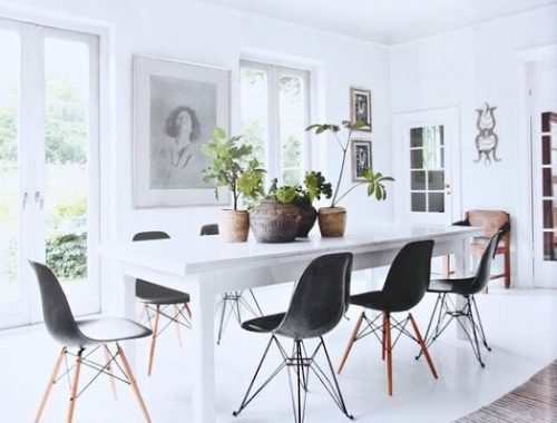 Zwarte Eames stoel