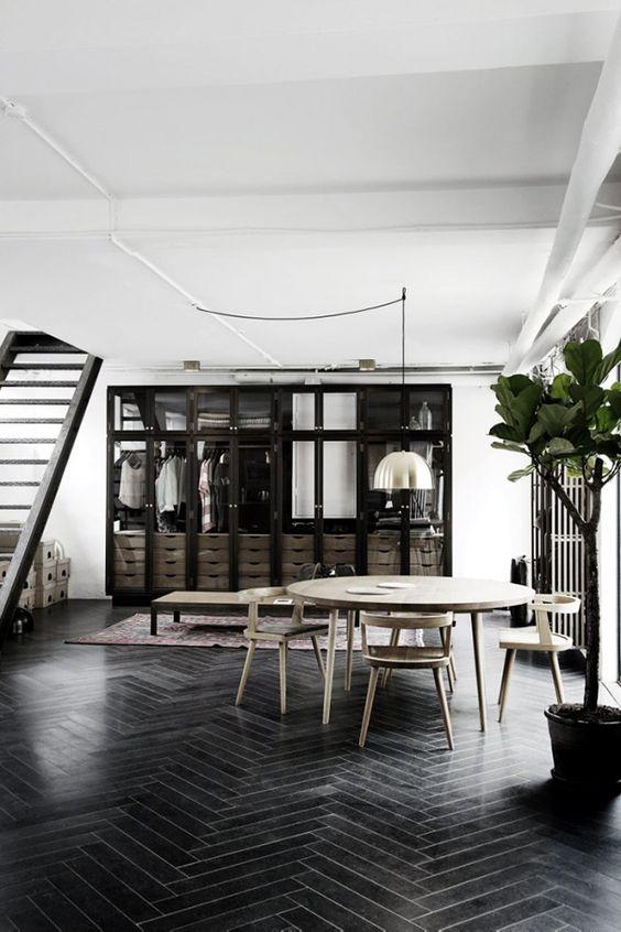 zwarte vloer inspiratie | interieur inrichting, Deco ideeën