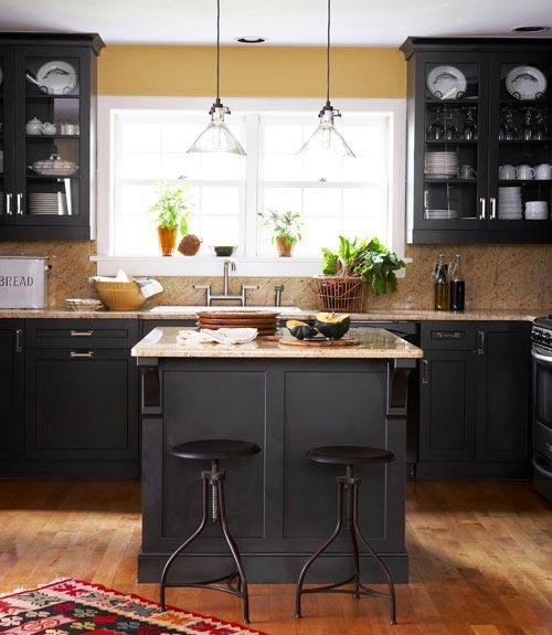 Zwarte Keuken Houten Vloer : Zwarte keuken Interieur inrichting