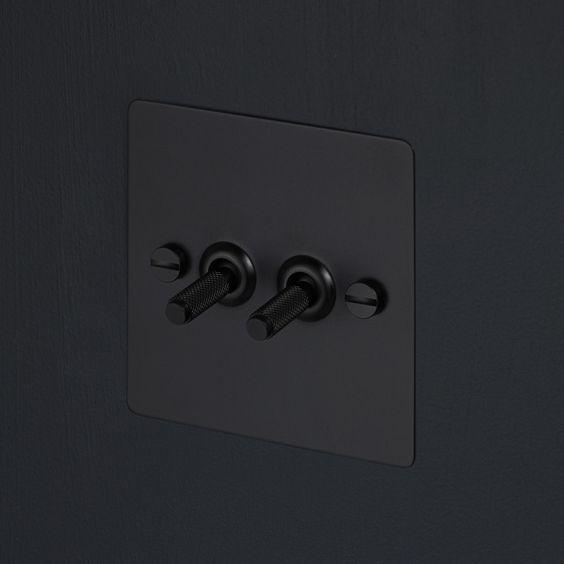 Zwarte lichtschakelaar