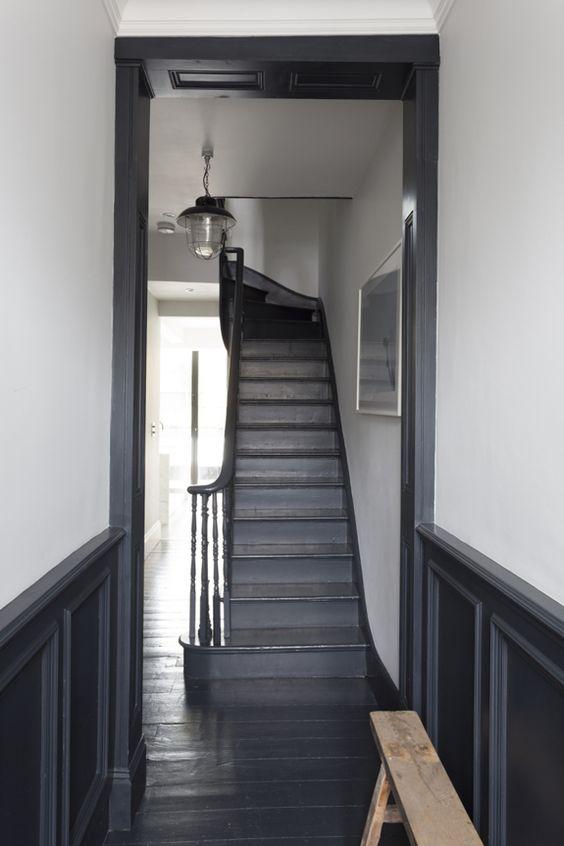 Zwarte vloer inspiratie   Interieur inrichting
