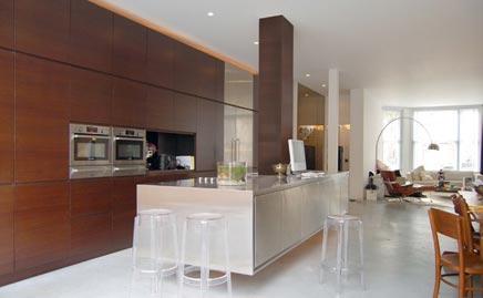 Zwevende open keuken interieur inrichting - Keuken open voor woonkamer ...