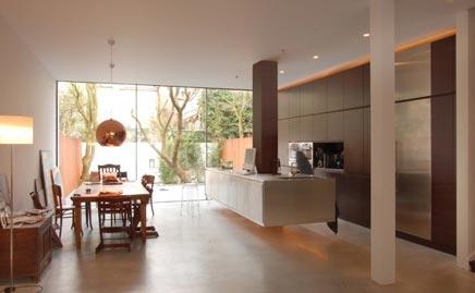 Zwevende open keuken interieur inrichting