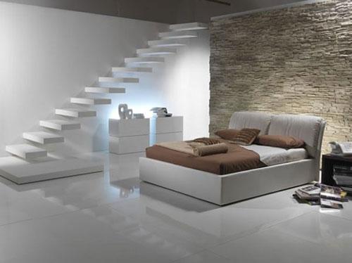 Zwevende trap slaapkamer